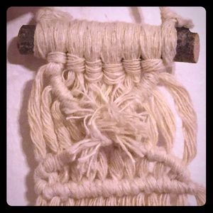 Coppoletti Accents - Handmade Macramé Rear View Mirror Mini Boho Bling